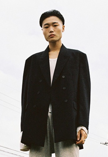 Vuiel뷔엘 DOUBLE BRESATED OVERSIZED BLAZER _ BLACK
