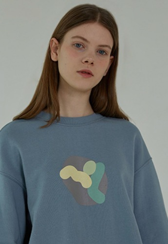 More or Less모어올레스 19SS CROP SWEATSHIRTS - BLUE