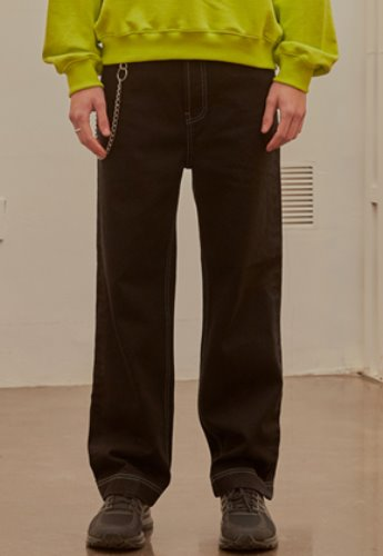 INNER CITY AUDIO이너시티오디오 STITCH DENIM PANTS BLACK