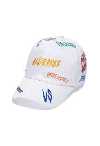 Stigma스티그마 DESTROYER BASEBALL CAP WHITE