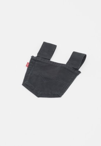 Gakuro가쿠로 Denim Pocket Pouch (Black)