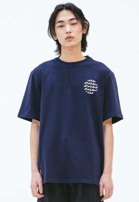 FROMMARK프롬마크 [FMK] FMK CERCLE GRAPHIC T-SHIRT  NAVY