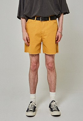 Yan13얀써틴 CUTTING COTTON SHORTS_MUSTARD
