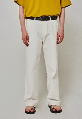 Yan13얀써틴 TRENDY WIDE COTTON PANTS_IVORY