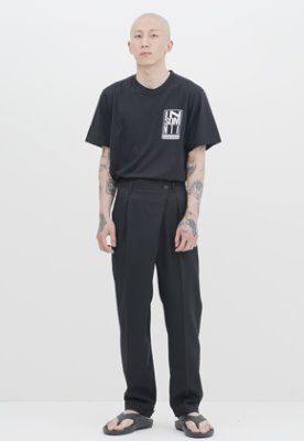 Gakuro가쿠로 Wrap Pants - Wool (Black)