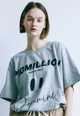Pig million피그밀리언 [PIGMILLION x DOPAMIN.C] Hawaii Tee (GREY)