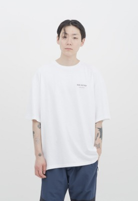 IDEAEND아이디어앤드 Baggy Tuck Half T Shirt (White)