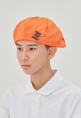 Romantic Crown로맨틱크라운 E.D.V Newsboy Cap_Orange