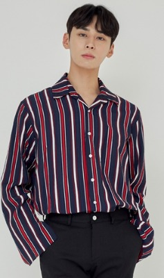 Trip LE Sens트립르센스 FALL STRIPE SHIRTS [LINEN VER.] NAVY