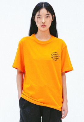 FROMMARK프롬마크 [FMK] FMK CERCLE GRAPHIC T-SHIRT  ORANGE