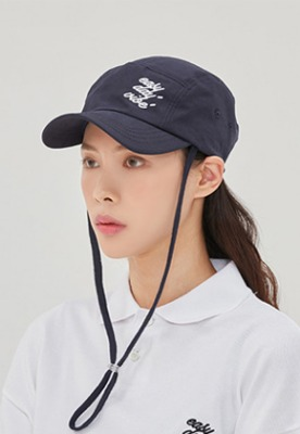 Romantic Crown로맨틱크라운 E.D.V Rope Camp Cap_Navy