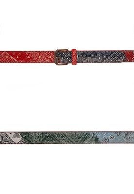 Vuiel뷔엘 PAISLEY LETHER BELT _ MULTI