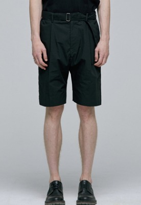 Haleine알렌느 BLACK belt detail short pants(IB116)