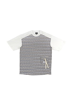 AJO BY AJO아조바이아조 Oversized Twofold Knitted T-Shirt [Blue]