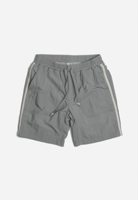 FRIZMWORKS프리즘웍스 Side banding set-up shorts _ gray