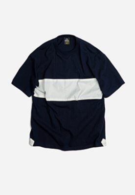 FRIZMWORKS프리즘웍스 Blocking band tee _ navy