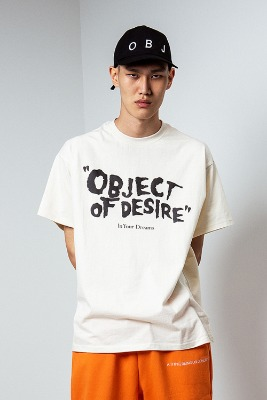 Object오브젝트 OBJECT OF DESIRE T-SHIRT (BEIGE)