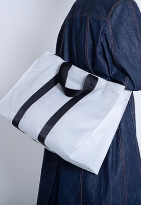 HAH ARCHIVE하 아카이브 4WAY SILVER GREY TWILL POLYESTER BAG