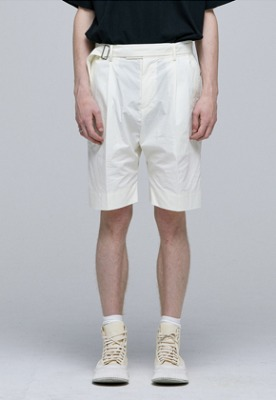 Haleine알렌느 CREAM belt detail short pants(IB115)
