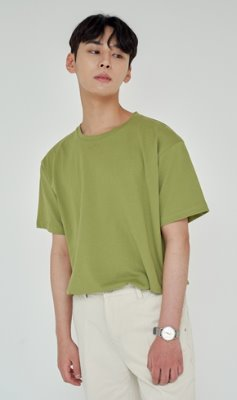 Trip LE Sens트립르센스 LOOSE FIT SILKET T-SHIRTS YELLOW GREEN
