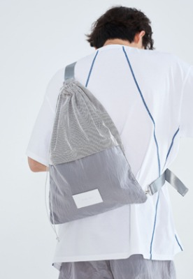 LLUD러드 (LLUD x Afterpray) Sling Bag Silver
