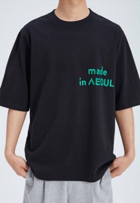 Nohant Newkidz노앙뉴키즈 MADE IN SEOUL T SHIRT BLACK