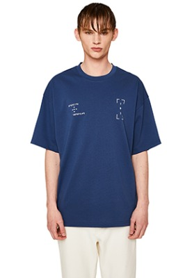 Lab101랩원오원 DOUBLE DARK BLUE PRINT TEE