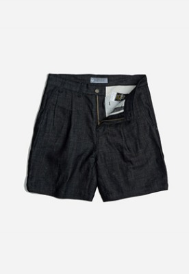 FRIZMWORKS프리즘웍스 Two tuck wide shorts _ indigo