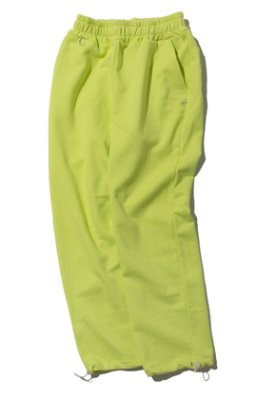 Kruchi크루치 Keyring point sweat pants (lime)
