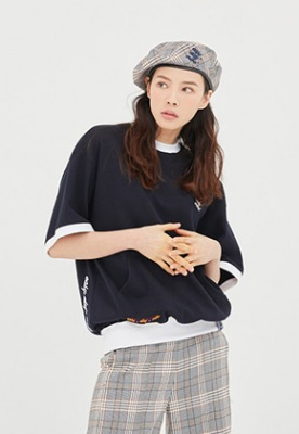 Romantic Crown로맨틱크라운 Pocket Sweat T Shirt_Navy
