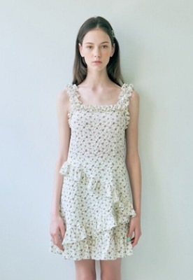 Margarin Fingers마가린핑거스 (당일출고) Floral frill one piece (IV)