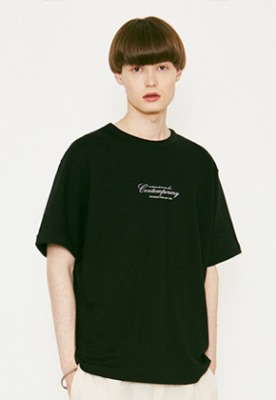 Voiebit브아빗 V366 CONTEMPORARY HALF-TEE  BLACK