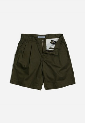 FRIZMWORKS프리즘웍스 Two tuck wide shorts _ olive