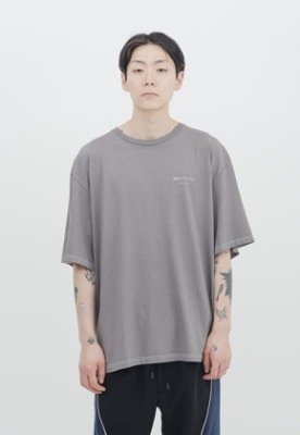 IDEAEND아이디어앤드 Baggy Tuck Half T Shirt (Acid Grey)