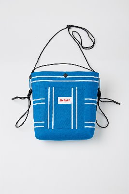 SKRAP스크랩 [SKRAP] AWNING sacoche bag Blue stripe
