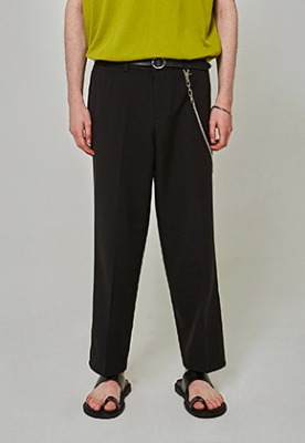 Yan13얀써틴 EASY TRENDY WIDE SLACKS_BLACK