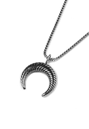 Voiebit브아빗 V826 NEW MOON NECKLACE  SLIVER