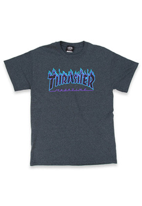 THRASHER트레셔 THRASHER Flame Tee - Dark Heather