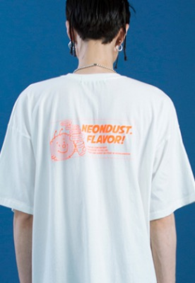 NEONMOON네온문 NEONDUST. DUSTY T-SHIRT - WHITE