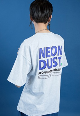 NEONMOON네온문 NEONDUST. 19SM 1/2 T-SHIRT - LIGHT GRAY