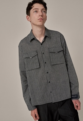 Trip LE Sens트립르센스 TAPE POCKET LINEN SHIRTS GREY