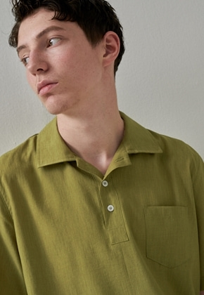 Trip LE Sens트립르센스 COLOR LINEN PK SHIRTS YELLOW GREEN