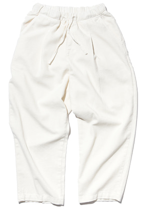Gongbaek공백 Wide One Tuck Linen Like Pants(Garment Dyeing)_Ecru