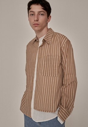 Trip LE Sens트립르센스 ST LAYERED LINEN SHIRTS BEIGE