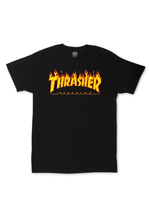 THRASHER트레셔 THRASHER Flame Tee - Black