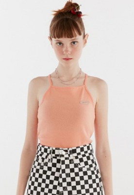 KIRSH키르시 GLITTER LOGO HALTER NECK IH [ORANGE]