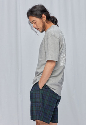 FRIZMWORKS프리즘웍스 Rear bandana pocket tee _ gray