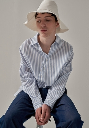 Trip LE Sens트립르센스 OBLIQUE LINE STRIPE SHIRTS WHITE