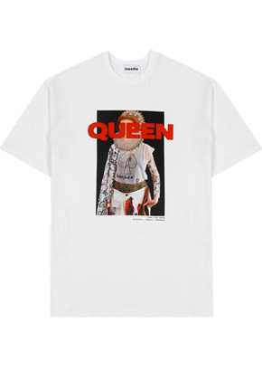 INNER CITY AUDIO이너시티오디오 QUEEN GRAPHIC T-SHIRTS WHITE