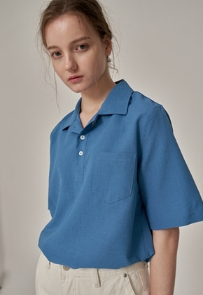 Trip LE Sens트립르센스 COLOR LINEN PK SHIRTS BLUE